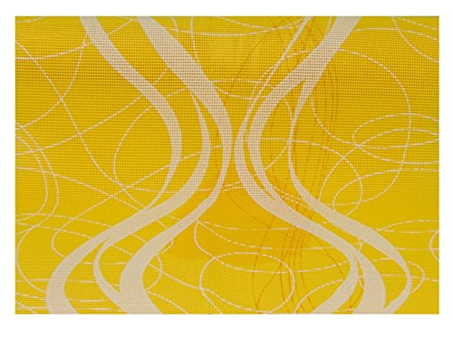 Sonderposten: Friedola 25608 Miami Tischläufer Gelb/Weiß 150x40cm
