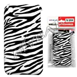 Black and White Stripes Zebra Skin Animal Design Back Snap-On Cover Hard Case Cell Phone Protector for Apple iPhone 3G i-phone