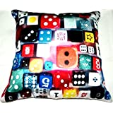 Aaiye Ghar Sajaiye Paper Satin Cushion Cover With BRIGHT COLOUR- Set Of 5, Multi _(16 X 16 Inch)