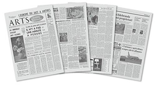 オリジナル世界のニュースペーパー 見開きB3判変形 約358×509mm 二つ折り 4枚(16ページ)