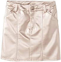 kc parker Girls 7-16 Big Skirt, Rose Gold Metallic, 14