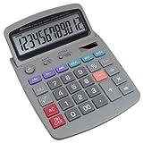 Low Vision Dual Memory Solar Desktop Calculator