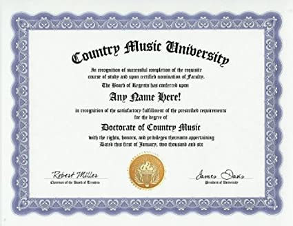 Country Music Lover Country Music Lover Degree