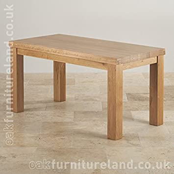 "Fresco Natural Real Oak 5ft x 2ft 6"" Oak Dining Table"