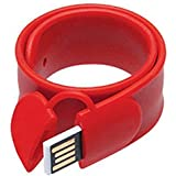 Eshop Wearable Slap Bracelet Wristband USB Flash Drive 16 GB Pen Drive (Red)