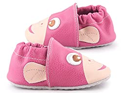 Cartoonimals Baby New Born Cribs Shoes Slip On Chimpy Fuxia 4