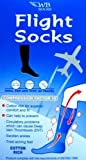 Cotton Rich Anti-DVT FLIGHT SOCKS UK Shoe Size 3-6 BLACK