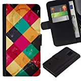 For Samsung Galaxy S5 Mini / Galaxy S5 Mini Duos / SM-G800 !!!NOT S5 REGULAR! ,S-type® Modern Art Coffee Table Colorful Marks - Drawing PU Leather Wallet Style Pouch Protective Skin Case