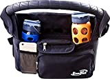 Stroller Organizer By ZenKid® - Perfect Stroller Accessory With Insulated Stroller Cup Holders ● Awesome Baby Shower Gift ● Storage Bag For Diapers, Keys, Wallet, Phone, Wipes ● Keep Everything Organized On Your Walks!