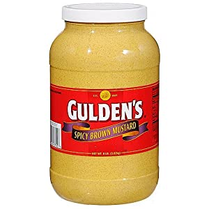 Gulden Spicy Brown Mustard, 128 Ounce (Pack of 4)