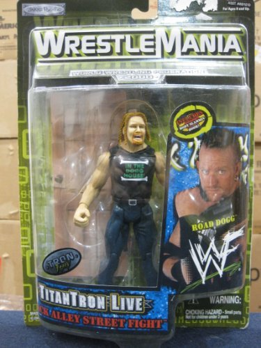 WWF Wrestle Mania 2000 Titon Tron Live Back Alley Street Fight Road Dogg by Jakks Pacific 1999
