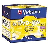 Verbatim DataLife Plus Branded DVD+RW Disc - 4.7GB - 10 Pack Slim Case