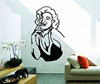 Large Marilyn Monroe Black and White Wall Sticker Decal for Bedroom Living Room from WallStickersUSA