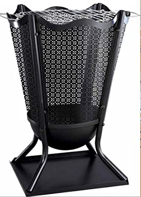 Traditional Delphi Style Outdoor Large Steel Flower Brazier H575cm Complete With Barbeque Grill - Ideal For Burning Garden Rubbish from Leisure Traders