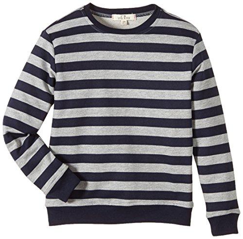 LTB Jeans Jungen Langarmshirt Pixo S/T, Gestreift, Gr. 176, Mehrfarbig (Grey Mel Navy Stripes 6703)