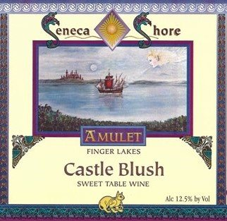 "Nv Seneca Shore Wine Cellars ""Castle Blush"", Finger Lakes, Sweet Rose Wine Blend, 750 Ml"