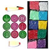 Ratna Handicrafts Ready to Draw Rangoli making Kit with 10 Color 2 different pen