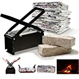 BRIQUETTE MAKER PAPER LOG RECYCLES ECO FIRE FREE FUEL BRICK BLOCK NEWSPAPER ** IN HIGH DEMAND ** SOLD OVER 1000 + **