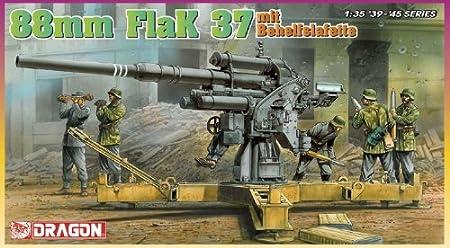 Dragon - D6523 - Maquette - Flak 37 Mit Behelslafette - 88 mm - Echelle 1:35