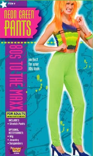 80's Punk Rock Costume Pants Neon Green