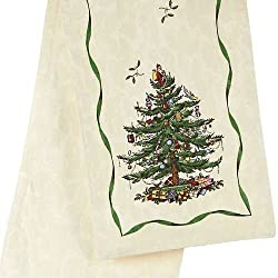 Avanti Spode Tree Table Runner, 14 by 72-Inch, Ivory
