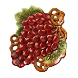 Grasslands Road in Vino Veritas Ceramic Grape Plate with Spreader Assortment 7-Inch Set of 4