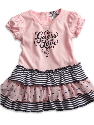 GUESS Kids Girls Three-Tiered Ruffle Dress  Bloomers