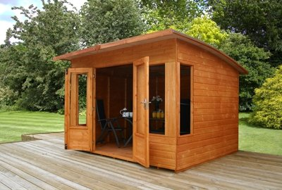Helios Summerhouse with Curved Roof Size: 210 cm H x 330 cm W x 296 cm D