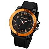INFANTRY INFILTRATOR Mens Analogue Wrist Watch Sport Military Orange Bezel Specialty Collection Black Rubber #IF-011-O-R
