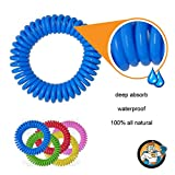 REPELLENT MAN - Mosquito Repellent Bracelet Coil Wristband - 10 individual Pack for Adults and Kids - Enhanced with Deep Absorb Technology for Long Lasting - 100% Natural