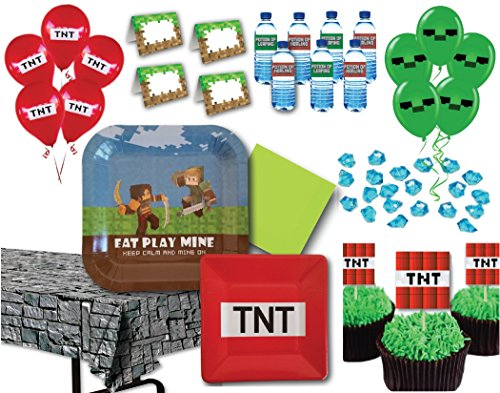 Miner-Themed-Birthday-Party-Supply-Pack-for-14-Guests