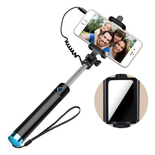selfie stick self portrait monopod wired selfie stick for iphone 6s 6s plus 6. Black Bedroom Furniture Sets. Home Design Ideas
