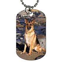"German shepherd dog Dog Tag with 30"" chain necklace Great Gift Idea"