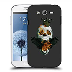 Snoogg Skull On Fire Designer Protective Back Case Cover For SAMSUNG GALAXY GRAND DUOS I9082