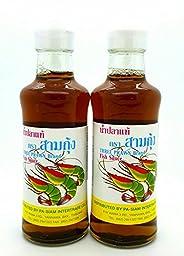 Three Prawn Brand Nuoc Mam Fish Sauce Three Shrimp Brand - 7fl/210ml Pack of 2
