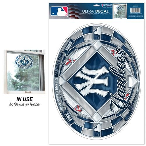 Stainedglassdecal New York Yankees Stained Glass Ultra Decal Mlb Fan Major League Baseball Game Decoration Accessories двухколесный велосипед altair mtb ht 26 2 0 19 26 18 ск красный