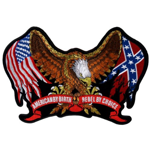Hot Leathers Rebel Eagle Flags Patch (5