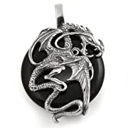 Warrior Dragon Pendant in Sterling Silver