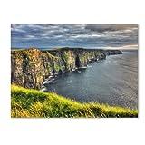 Trademark Fine Art Cliffs of Moher Ireland by Pierre Leclerc Canvas Wall Artwork, 22 by 32-Inch