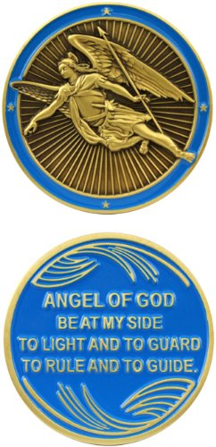 Jesus Christ Bible Religious Angel Of God - Good Luck Double Sided Collectible Challenge Pewter Coin (Double Sided Angel Coin compare prices)