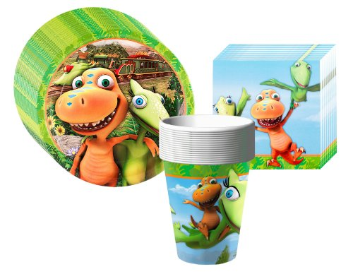 Dinosaur Train - Party Supplies Pack Including Plates, Cups, and Napkins- 8 Guests