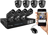 Amcrest Full-HD 1080P 8CH Video Security System - Eight 1920TVL 2.1-Megapixel Weatherproof IP66 Dome and Bullet Cameras, 65ft IR LED Night Vision, 3TB HDD, HD Over Analog/BNC, Smartphone View (Black)