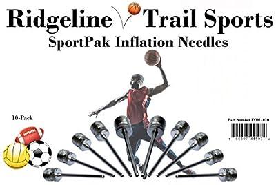 SportPak of Ten (10) Inflation Needles by Ridgeline Trail Sports