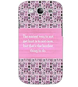 SAMSUNG GALAXY S3 QUOTE Back Cover by PRINTSWAG