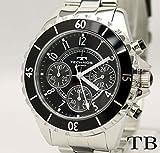 腕時計/メンズ クロノグラフ/TECHNOS テクノス T3032/ベルト調整工具付き (T3032TB/ブラック)