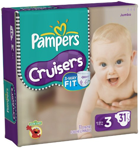 Pampers Cruisers Diapers Jumbo Pack -- size: size 3
