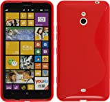 PhoneNatic Silicone Case Nokia Lumia 1320 - S-Style Red - PhoneNatic cover + 2x screen protector