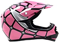 Youth Offroad Gear Combo Helmet Gloves Goggles DOT Motocross ATV Dirt Bike Spiderman Pink , Medium from Typhoon Helmets