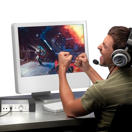 Beyerdynamic Headzone Pc Gaming Digital Surround Sound System With Mmx300 Digital Headset With Microphone