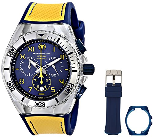 technomarine-unisex-quartz-watch-with-blue-dial-chronograph-display-and-yellow-silicone-strap-114025